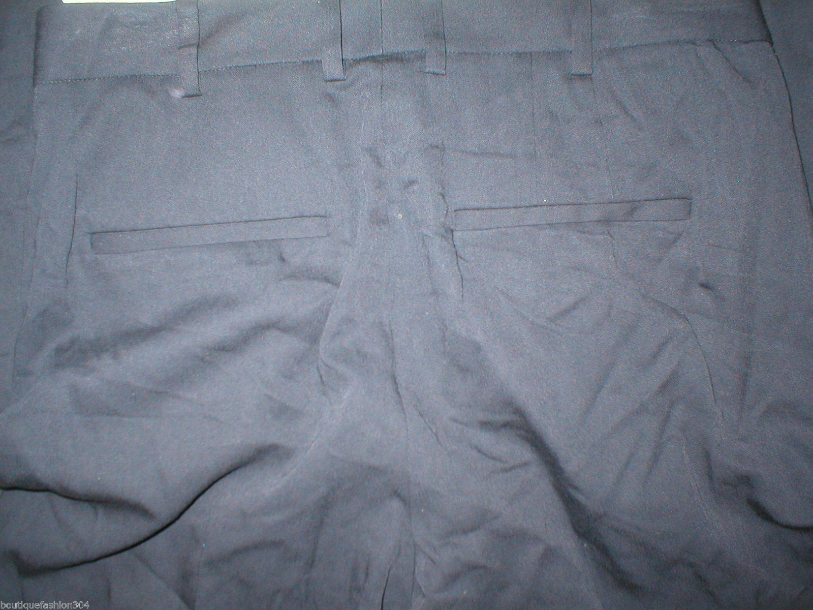 New Womens Black Navy Blue Designer Elie Tahari Linen Pants 28 X 25.5 Crop Capri