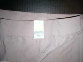 New Womens Gap $50 Office Dress Shorts 14 Light Brown Rayon Silky Work NWT Nice image 4