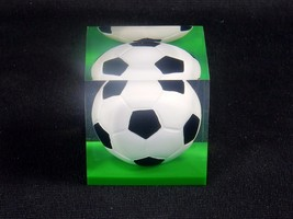 "Acrylic Paperweight, Sports Ball ~ 1.75"" Cube, 3.5 oz/100 g, Soccer Ball... - $7.79"