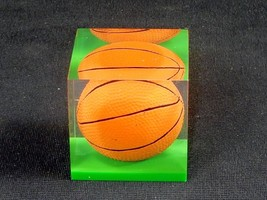 "Acrylic Paperweight, Sports Ball ~ 1.75"" Cube, 3.5 oz/100 g, Basketball ... - $7.79"