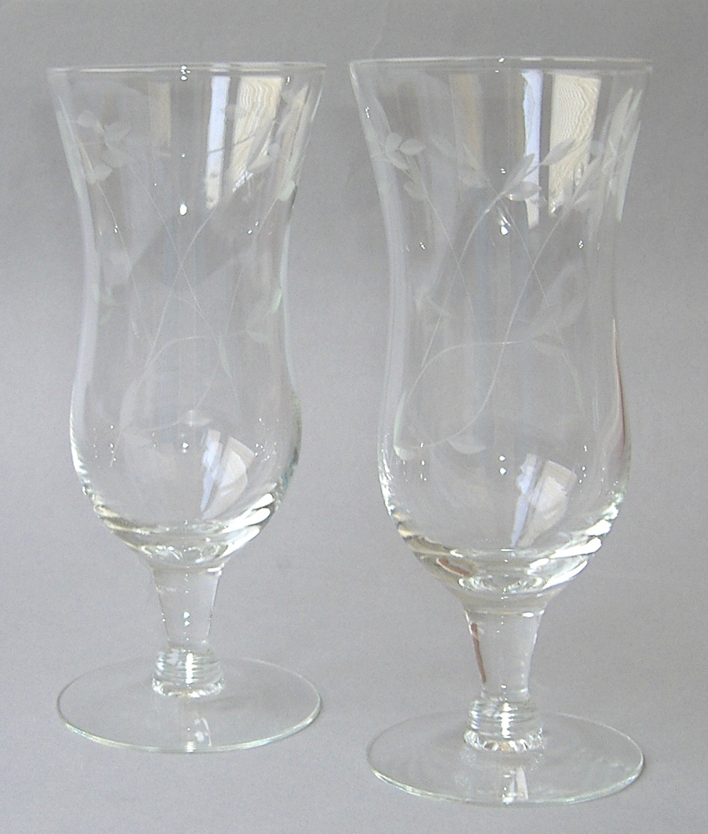 2 princess house heritage parfait handblown crystal cut for Princess housse