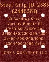 Steel Grip JD-2585 - 17 Different Grits - 20 Sheet Variety Bundle III - $18.97