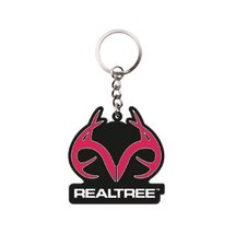 Licensed Realtree Brand Pink Logo Rubber Keychain - $7.91