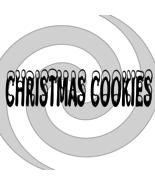 Christmas Cookies Font 4smp-Digital ClipArt-Art Clip-Gift Tag-T shirt-Ho... - $2.50