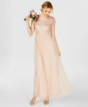 Adrianna Papell Sequined Tulle A-Line Gown Size 6 # W 55 - $29.69