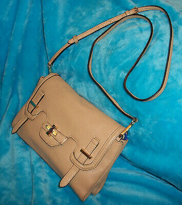 Primary image for REBECCA MINKOFF Beige Pebble Leather CROSS BODY Bag