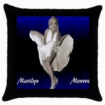Marilyn Monroe  Black Cushion Cover Throw Pillow Case-HOT!! - $15.00