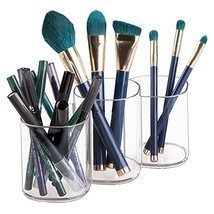 InterDesign Clarity Cosmetic Organizer Trio Cup for Vanity Cabinet to Hold - $15.57
