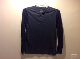 Men's Dark Gray Torso Shirt w Navy Blue Long Sleeves by Old Navy Sz S image 2