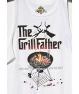 "Newport Blue Mens ""Grillfather"" BBQ Graphics T Shirt M Medium Father's D... - $19.99"