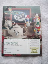 Home & Garden Party Mini Catalog Thru December 2000 Floral Collection Ho... - $7.00