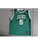 Green Boston Celtics #5 Kevin Garnett Basketball NBA Jersey Youth L 14-1... - $21.66