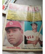 Spring Baseball Sports Stars of 1968 Magazine Player Statistics News Art... - $10.00