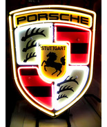 "Brand New PORSCHE Stuttgart Racing Neon Light Sign 16""x 14"" [High Quality] - $129.00"