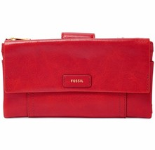 New Fossil Women Ellis Leather Clutch Variety Colors - $69.99