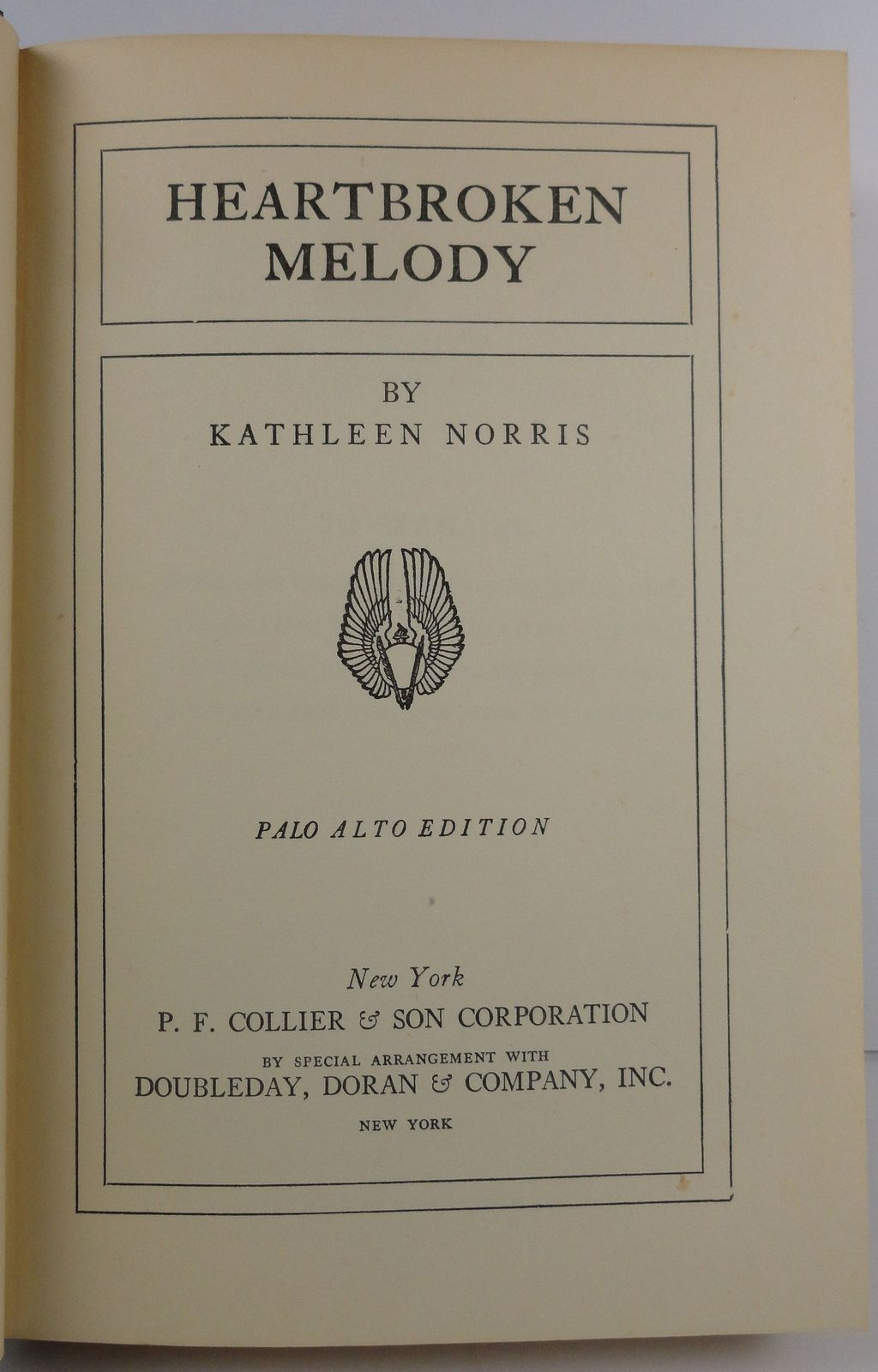 Heartbroken Melody by Kathleen Norris 1938 P. F. Collier