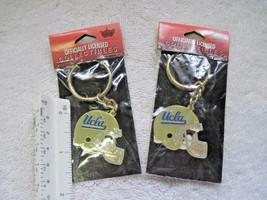 2 California UCLA Helmet NCAA Football Team Key Chain Fob Enamel College... - $8.00