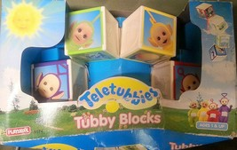 Teletubbies Tubby Blocks Collectibles Toy Gift Vintage 1998 Favors Po, D... - $39.55