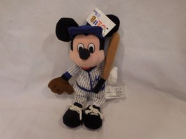 "Disney Club Plush Bean's 9"" Baseball Mickey w/Blue Uniform Rare Tag Vintage New - $22.42"