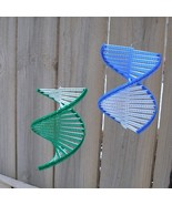 Wind Spinner spiral helix mesmerizing, blue or ... - $8.00