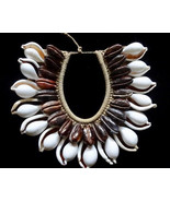 Sea Shell Necklace Ovula Cowrie Tribal Bijoux Coquille Women Fashion Jewelry Art - $219.33