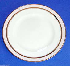 Martha Stewart Wedgwood Ribbon Stripe Salad Dessert Plate Rose & Platinum New - $13.90