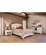 White Barn Door Eliza King Size Bedroom Set - Solid Wood - Quality - $3,757.05