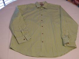 Mens Michael Kors L 80's 2 ply plaid button up long sleeve shirt casual ... - €37,87 EUR