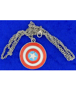 Captain America Shield Necklace or Keychain Ste... - $4.49 - $5.99