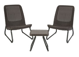 Patio Garden Furniture Sets Brown Chair Table Rattan Design Comfortable ... - $134.35