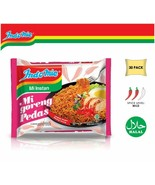 Indomie Mi Goreng Instant Noodles Hot & Spicy Pedas Flavor Pack of 30; E... - $29.69