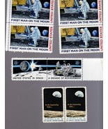 Stamps - U. S. Postage ( 8Stamps-4  Man on Moon,, 2  Achievement, & 2 Ap... - $8.95