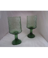 Two Green Lenox Impromptu Water Glasses Goblets... - $18.99