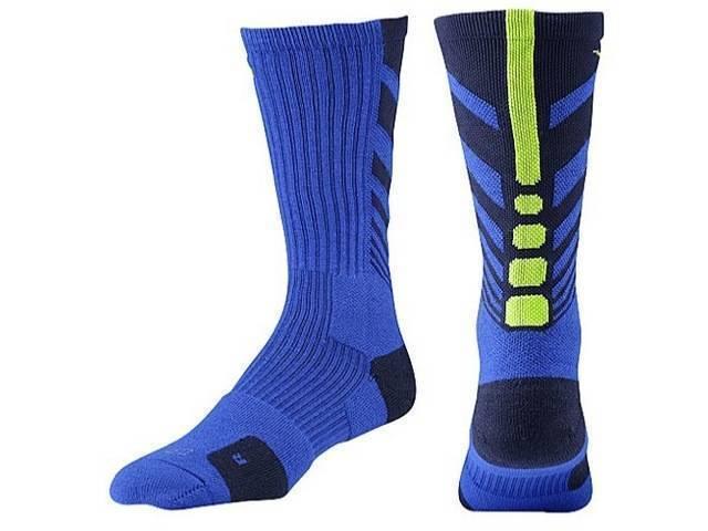 NEW Unisex Nike Elite Sequalizer DRI-FIT Cushioned Basketball Socks - Blue/Neon
