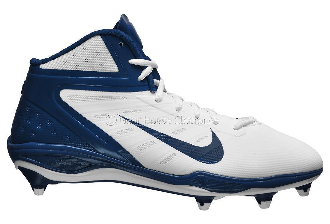NEW Sz-16 Nike Alpha Vapor Talon Elite Mid 3/4 Football Cleats-Navy Blue/White