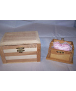 2 Unfinished Wooden Extra Small And Small Trink... - $6.92