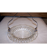 Clear Glass Candy Dish With Chrome Handle Remov... - $7.91