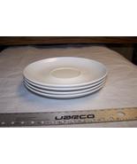 4 White Stetson Melmac Dinnerware Saucers - $7.91