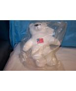 NIB JJ Coolwear White Bear With American Flag O... - $6.92