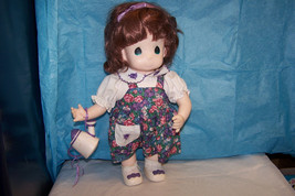 "Vintage 1995 Precious Moments Iris May Doll With Watering Can 12"" - $10.88"