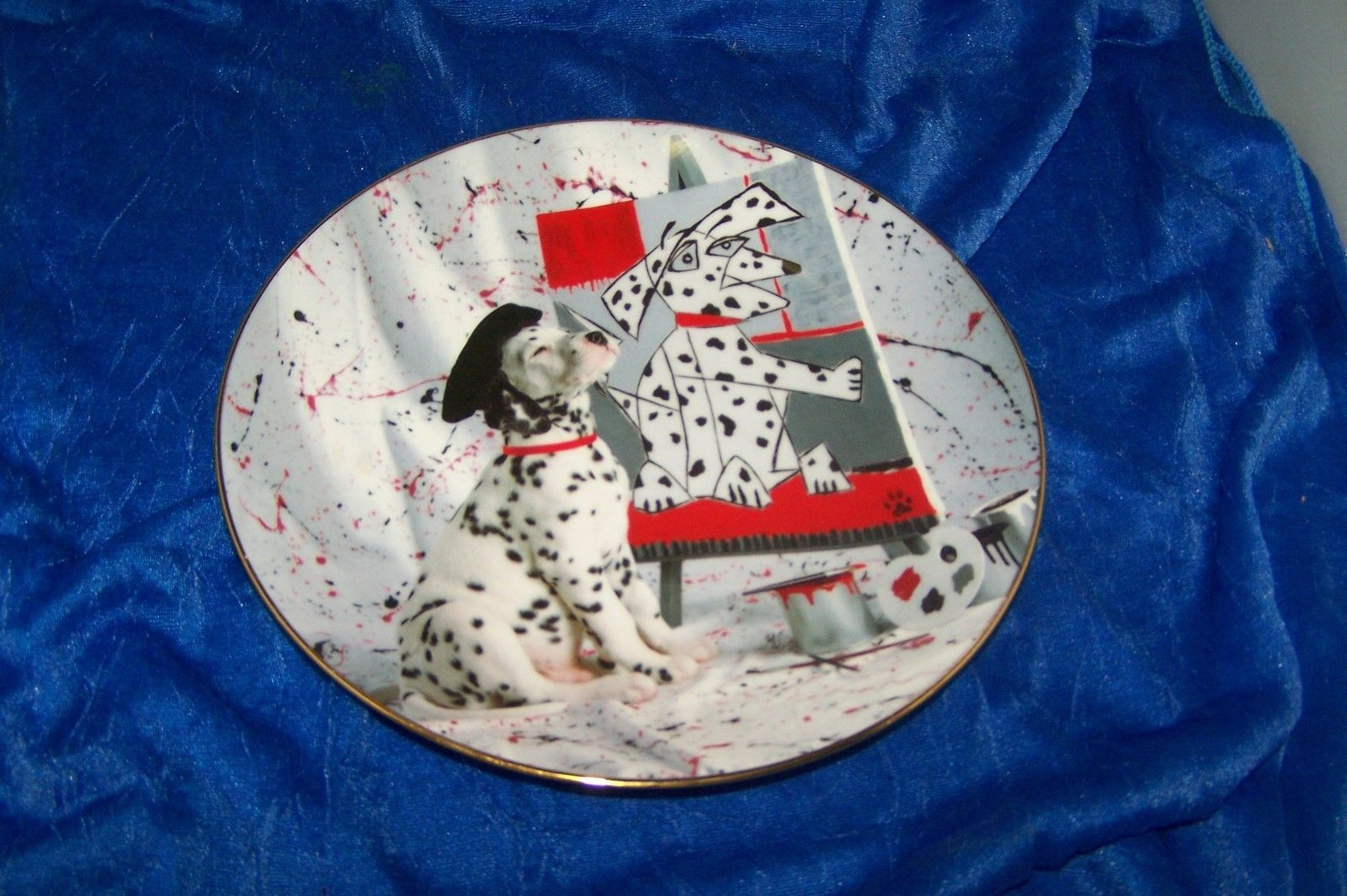 The Master From The Comical Dalmatians Collectible Plate Plate #4398 K - $10.88