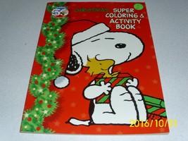 50th Peanuts Celebration CHRISTMAS Super Coloring & Activity Book 2000 Uncolored - $19.58