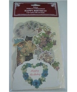 Birthday Card Victorian Cat Reproduction B. Shackman w/Envelope - $5.00