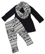 Unique Baby Girls 3 Piece Matching Elephant Print Legging Set (12 Month,... - $24.99