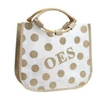 Order the The Eastern Star - Polka Dot Jute Bag - £18.64 GBP