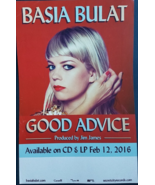 "BASIA BULAT 'Good Advisce' 11"" X 17"" Promo Poster, New some creases - $6.95"