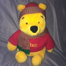 Disney Winnie The Pooh 13 Inch Plush Pooh Bear with Scarf and Hat  - $8.56