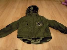 Size Medium 5-6 Arizona Green Camouflage Reversible Windbreaker Fleece Jacket  - $22.00