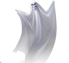 Life Size White Hanging Skull Ghost Haunted House Halloween Decor Prop D... - $33.16