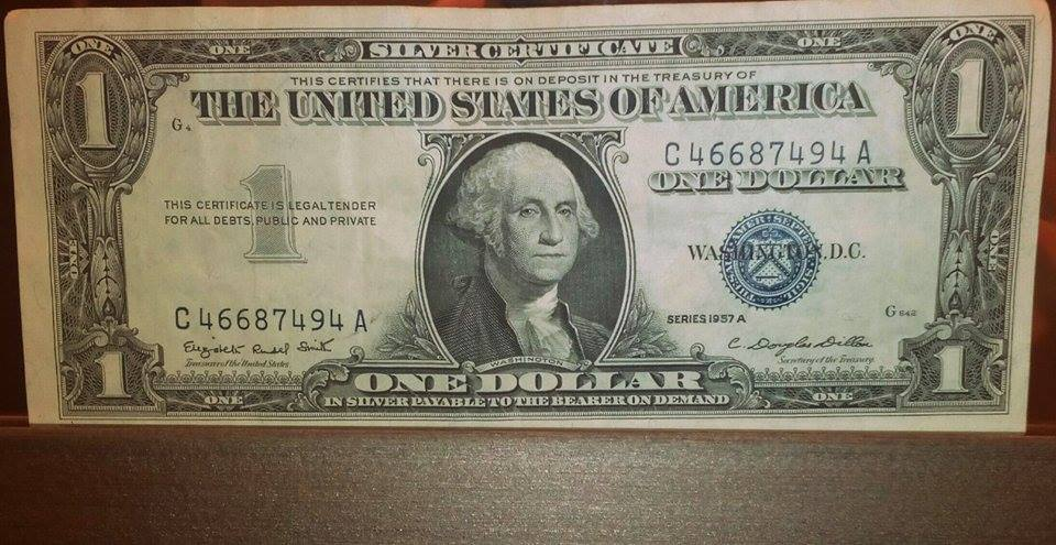 1957 bill dollar certificate silver bonanza